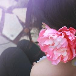 pink peony hair clip 'Peaches n Dreams'