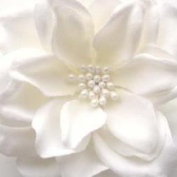 gardenia bridal flower hair clip
